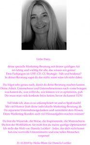 Gedicht Marketing von Heike Blum Kuge Datenschutzcoach für Daniela Lechler
